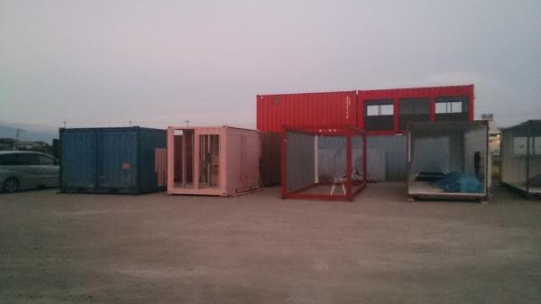 大型倉庫内事務所設置工事