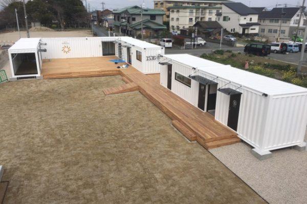 大川テラッツァ オープン前の全景