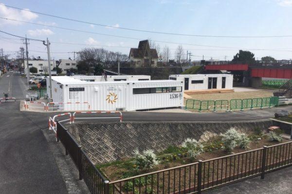 大川テラッツァ オープン前 少しはなれたところから見た全景